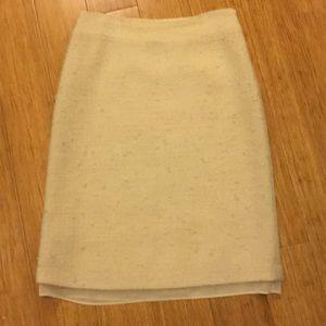 Banana Republic boucle wool skirt